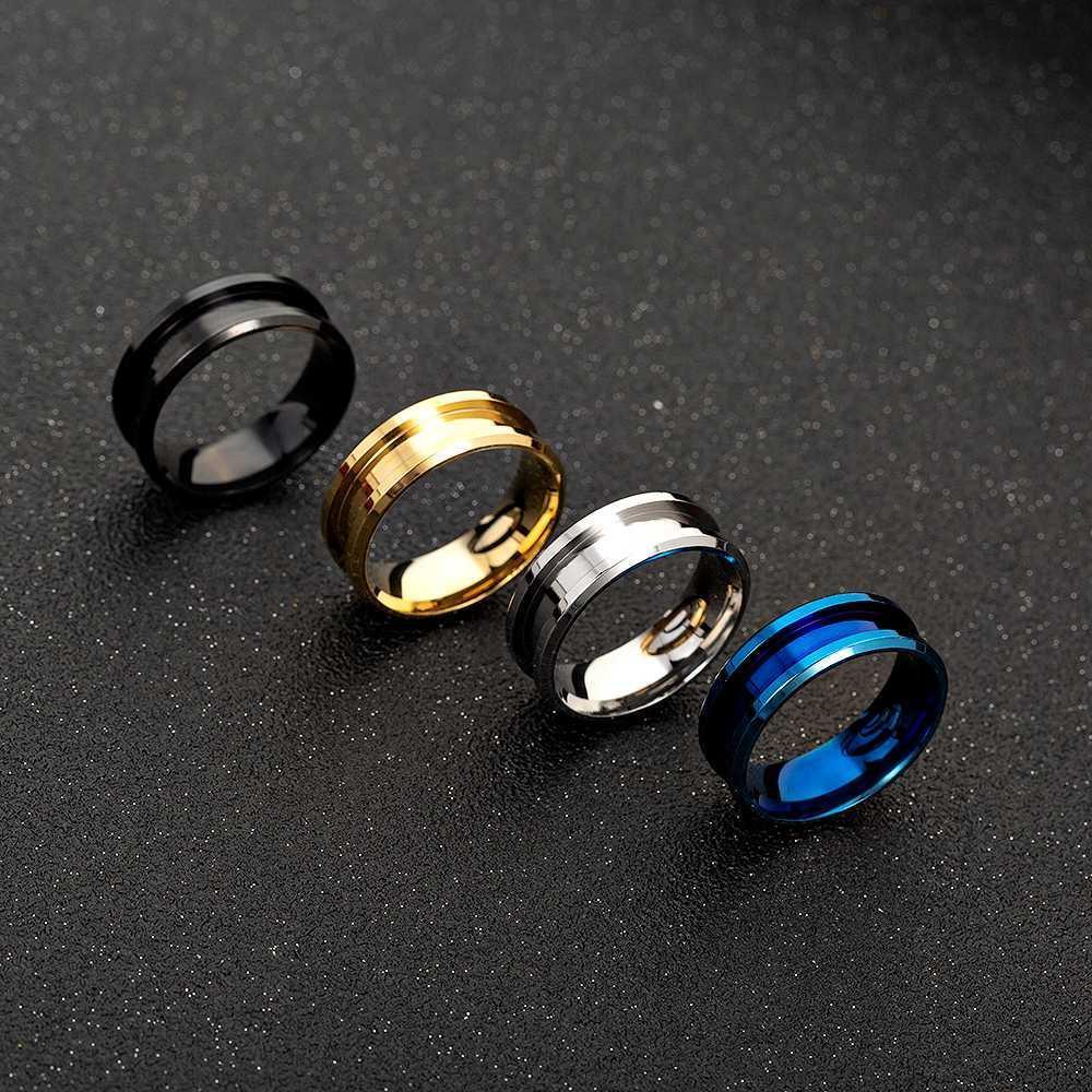 8 milímetros Handmade do metal branco Anéis DIY Jóias fazendo entregas Craft