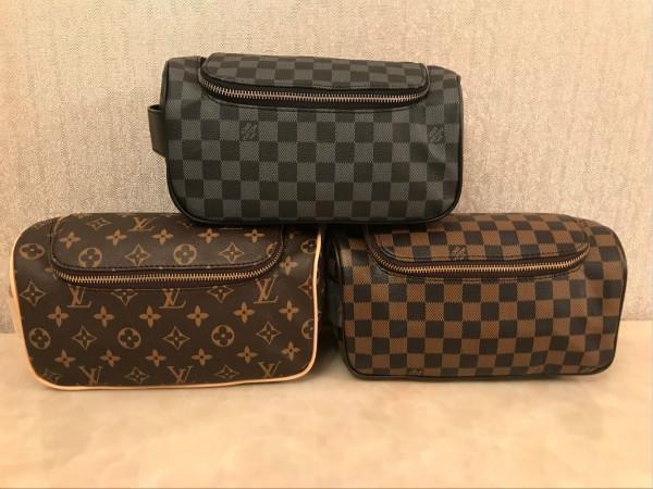 여성 화장품 가방 더블 지퍼 여행 화장실 가방 패션으로 유명한 세척 가방 메이크업 세면 지갑 Pouch7 설계