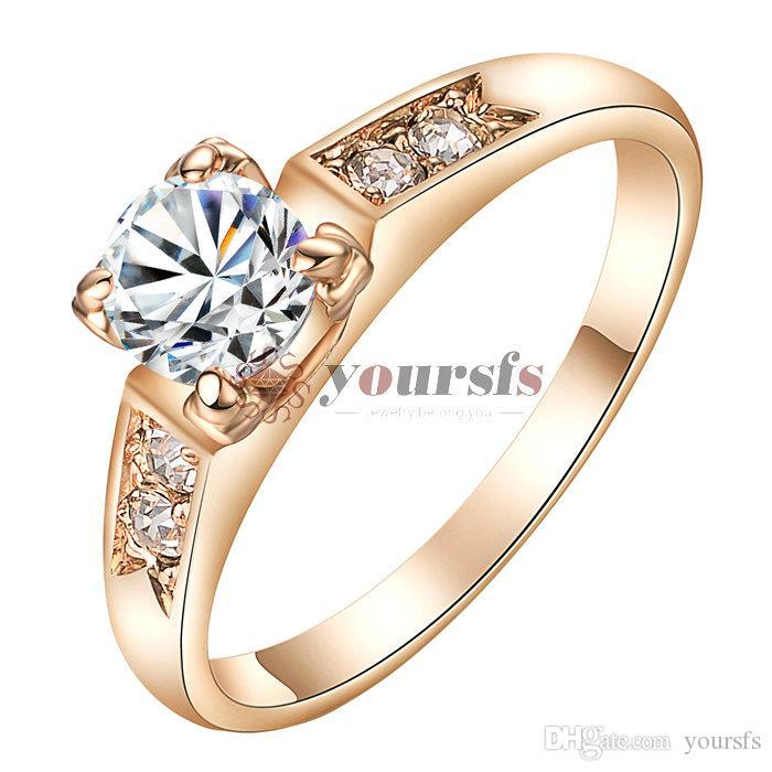 Yoolds solitaire anello di fidanzamento anello argento art deco stile cz anello di fidanzamento vintage per regalo delle donne