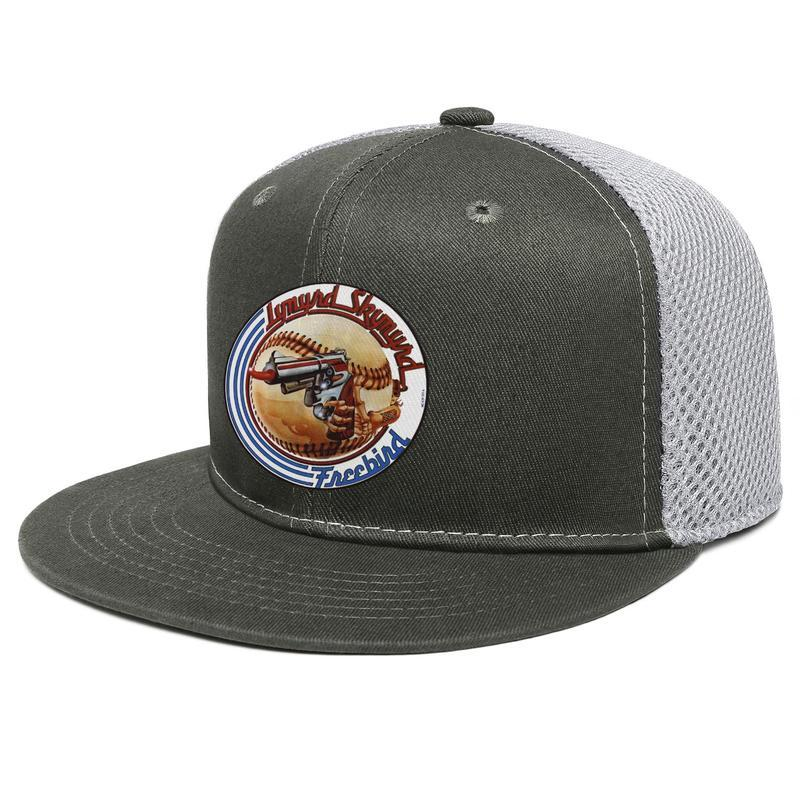 Lynyrd Skynyrd logo Blu Unisex Flat Brim Trucker Cap Designer Personalizzato Cappelli da baseball Baseball Bandiera nazionale Bandiera Eagle Star 1991 2016 K PVCA