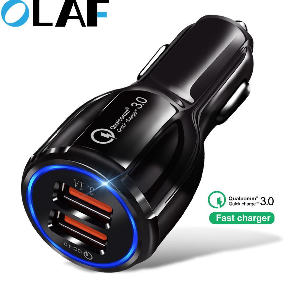 Auto-Ladegerät Quick Charge 3.0 2.0 Handy-Ladegerät Schnell Kfz-Ladegerät für Iphone Xs Max Samsung 2 Port USB-Telefon-Ladegeräte