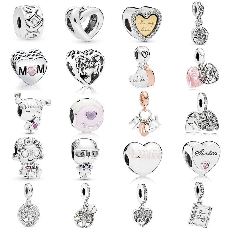 Neue Ankunft 925 Sterling Silber Geknotete Herz Baumeln Charm Clip Stopper Charm Perlen Fit Ursprüngliche Pandora Armband Muttertag Schmuck