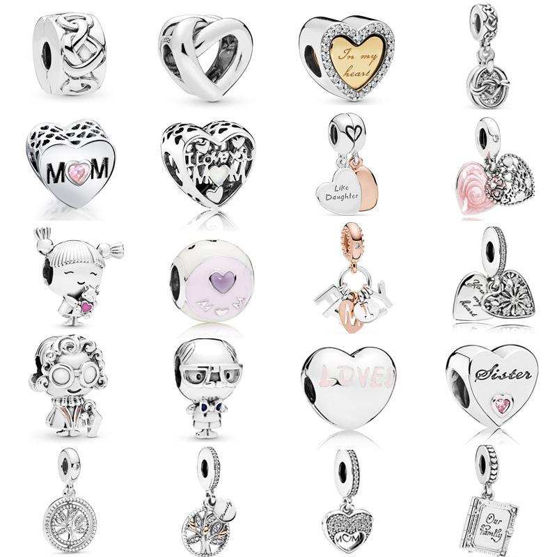 Новое прибытие стерлингового серебра 925 узловатые сердца мотаться Шарм клип пробка Шарм бусины подходят оригинальный Pandora браслет День матери ювелирные изделия