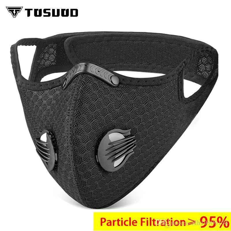 TOSUOD Anti Dust Face Mask Anti-PollutionWith Filter mask активированный уголь PM 2.5 дорожный велосипед спорт велоспорт маска для лица фильтр