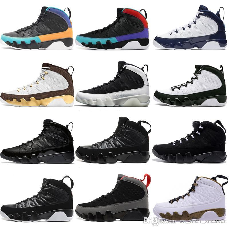 Top-Qualität New 9 9s Traum Es Do It UNC Mop Melo Herren-Basketball-Schuhe LA OG Space Jam Männer Anthrazit Sport Turnschuhe Designer Trainer Bred