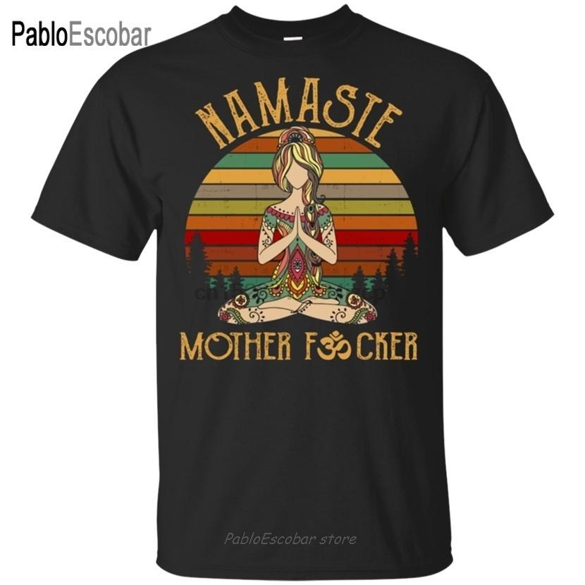 OM Yoga Namaste Camiseta de Namaste impresionantes regalos de cumpleaños para Yogi S-3XL de pantalla personalizado impreso Camiseta MX200611