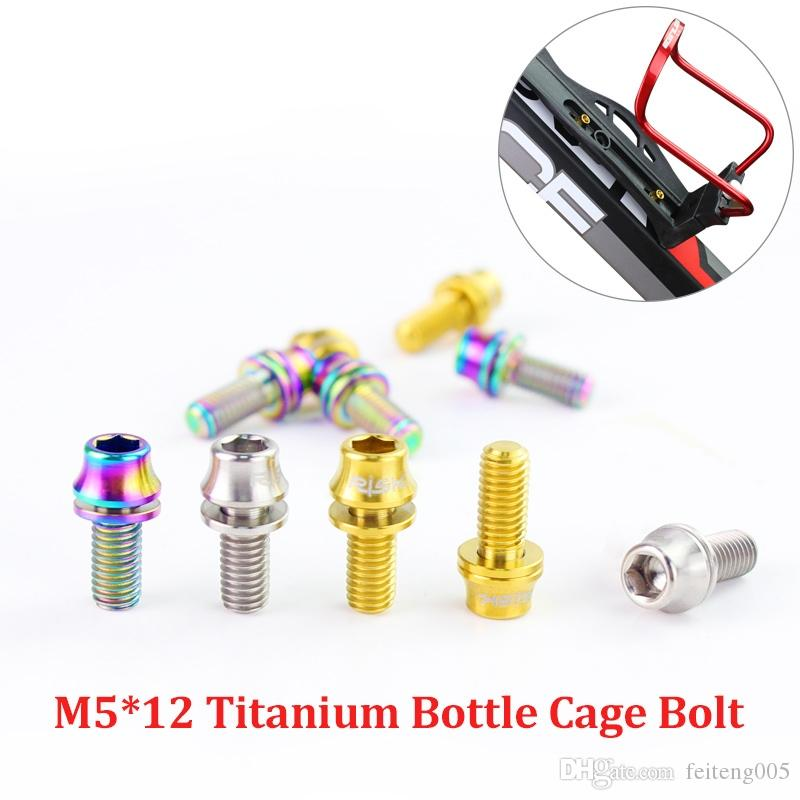 M5x12mm Titanium Bicycle Water Bottle Cage Bolt Bicycle Bottle Holder Screw S6