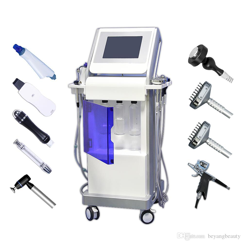 Best selling 9 in 1 water hydrafacial dermabrasion skin cleaning machine oxygen jet BIO face liting hydro facial skin care beauty equipment
