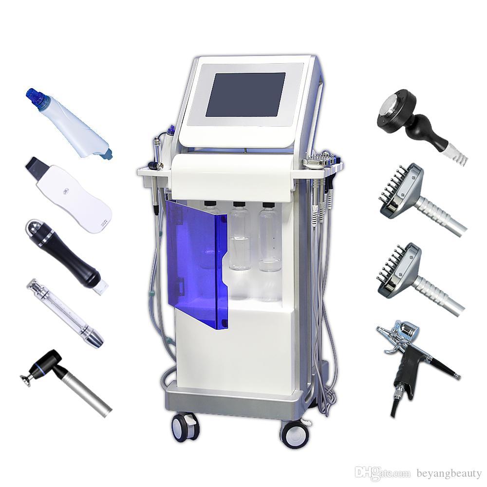 En çok satan 9 1 su hydrafacial dermabrazyon cilt temizleme makinesi oksijen jet BIO yüz liting hidro yüz cilt bakımı güzellik ekipmanları