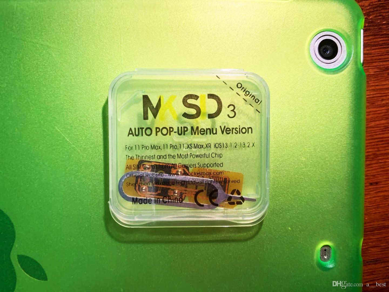 NOUVEAU MKSD3 ICCID + MNC ios13.2 IOS13 déverrouiller iPhone11 11 PRO max xr x 8 7 6 plus SE puces SIM turbo GHANA MEXIQUE JAPON AU UE USA Telcell ROGER