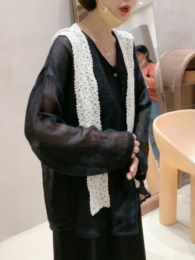 Handa Puerta Este mismo diseño del bordado de encaje bordado shawlsense todo-fósforo chal de encaje elemento de gancho 2020 de la moda de las mujeres mantón de la manera