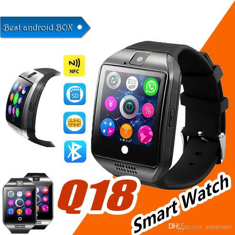 Q18 Smart Watch 1.54 inch 2.5D IPS Touch Screen SIM Card TF Card Camera Bluetooth smartwatch for Android and IOS Smartphone