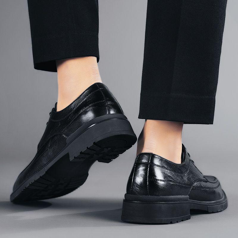 Moda masculina Sapatos de couro ata acima business casual sapatos de couro genuíno Low Sapatos Zapatos De Hombre britânica selvagem na moda sapatos *