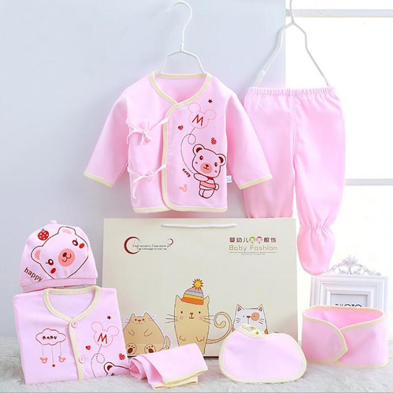 0-3m insiemi vestiti infantili per il neonato ragazzi delle neonate copre i vestiti del bambino in cotone Set 7pcs / set