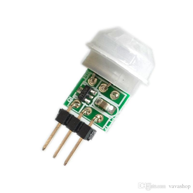 Módulo de Sensor Piroeléctrico Infrarrojo Infrarrojo PIR Miniatura de Cuerpo Humano