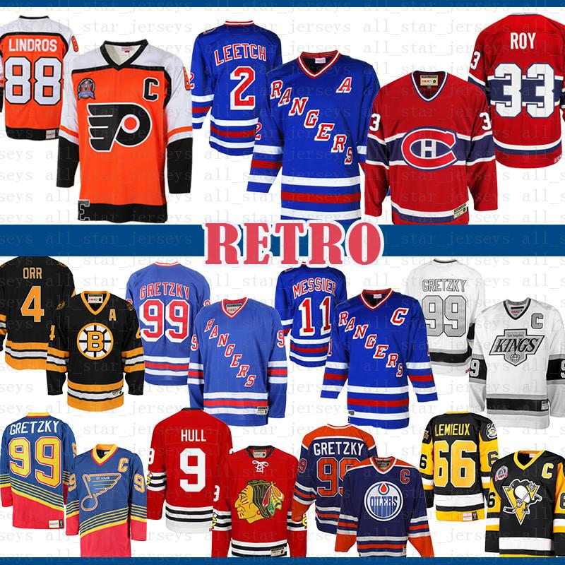 99 Brian Leetch New York Rangers Mark Martier Wayne Gretzky Montreal Canadiens Patrick Roy 88 Eric Lindros Philadelphia Flyers Hockey Jersey