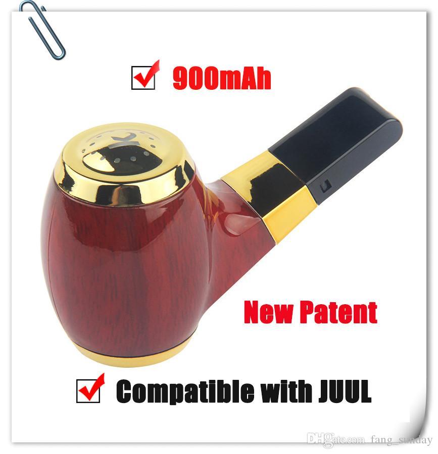 KF 01 Automatic Buttonless 900mAh Vape Pen Auto E Cigs Battery Micro USB Wooden color compatible juul system vapor empty cartridges device
