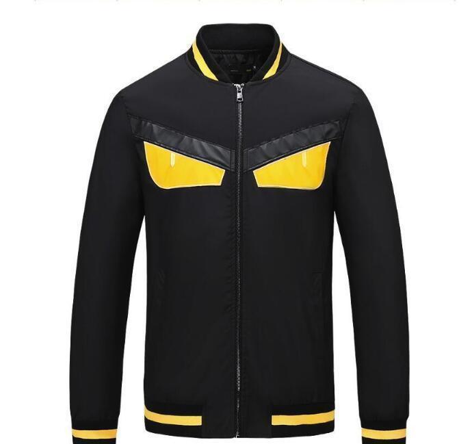 vendita calda 2019 Little mostro novità moda strada moda casual plaid stampa giacca a vento giacca con cappuccio da uomo cerniera disegno giacca