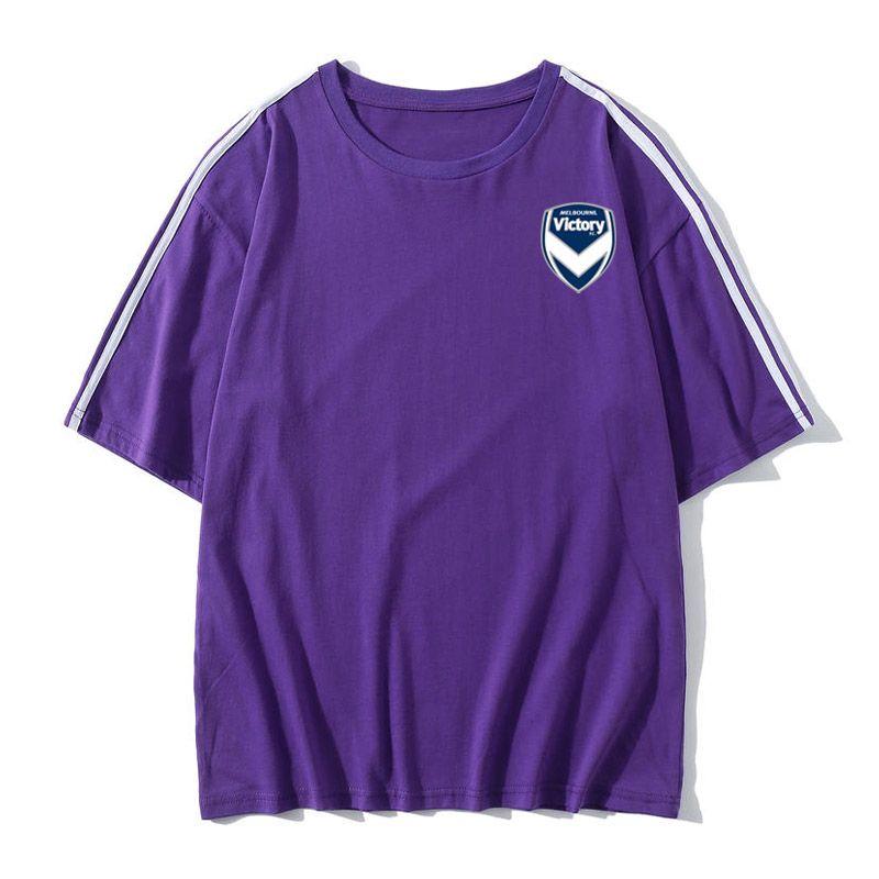 Melbourne Victory Sports T-shirt zarif tasarım tişört erkek tasarımcı gömlek futbol kısa kollu tişört womenn klasik moda baskılı