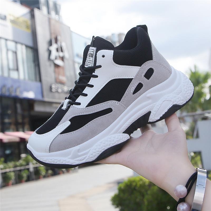 Sıcak Satış Kadın Ayakkabı Spor Yükseklik Artış Bayan Ayakkabıları Atletik Kalın Soled Kadınlar Koşu Nefes Sneakers Walking