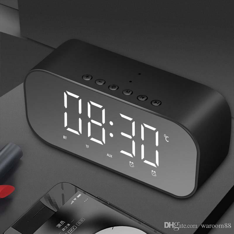 2019 Led Alarm Clock Radio Home Bedroom Digital Clock Wireless Bluetooth Speakers Usb Charger Dual Alarm Function Tf Card Slot Fm Radio Aux From