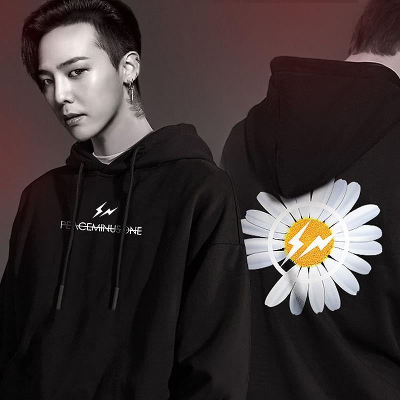 GD G-DRAGON Oversized Peaceminusone FRAGMENTO moletom Mulheres Casual Hip moda de alta qualidade Hop hoodies camisolas