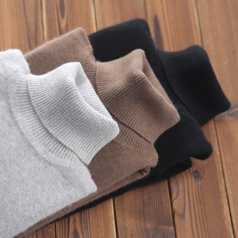 Dolcevita in cashmere Maglione Uomini autunno abbigliamento invernale classico Maglieria Robe Pull Homme Pullover uomini maglioni-a