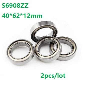 2pcs/lot S6908ZZ S6908 ZZ Stainless Steel bearing 40*62*12mm Thin section Stainless Steel Deep Groove Ball Bearing 40x62x12mm