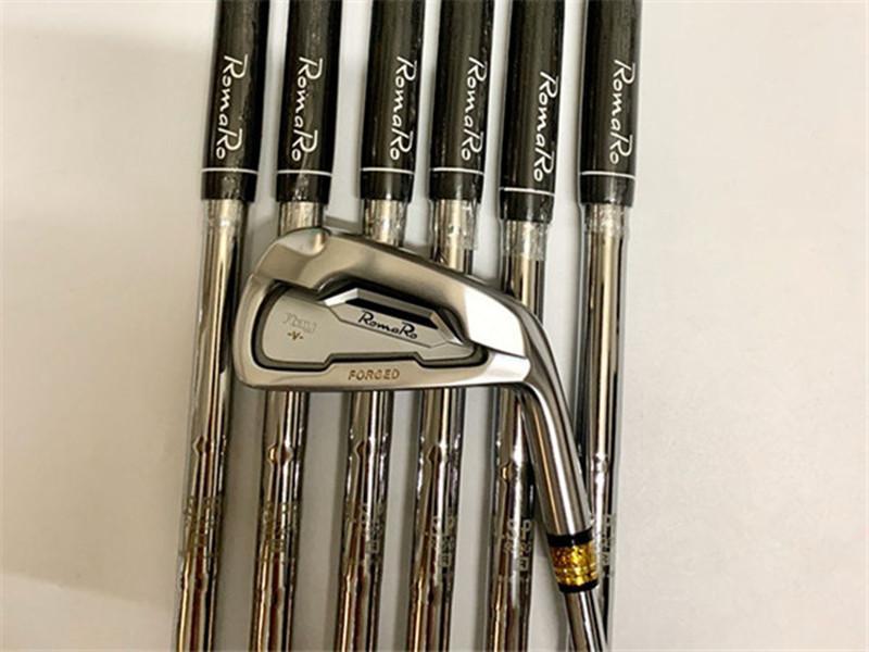 7pcs RomaRo Ray-V Demir Seti RomaRo Ray Golf Dövme Irons RomaRo Golf Kulüpleri 4-9P Çelik Mil ile Merkez Kapağı