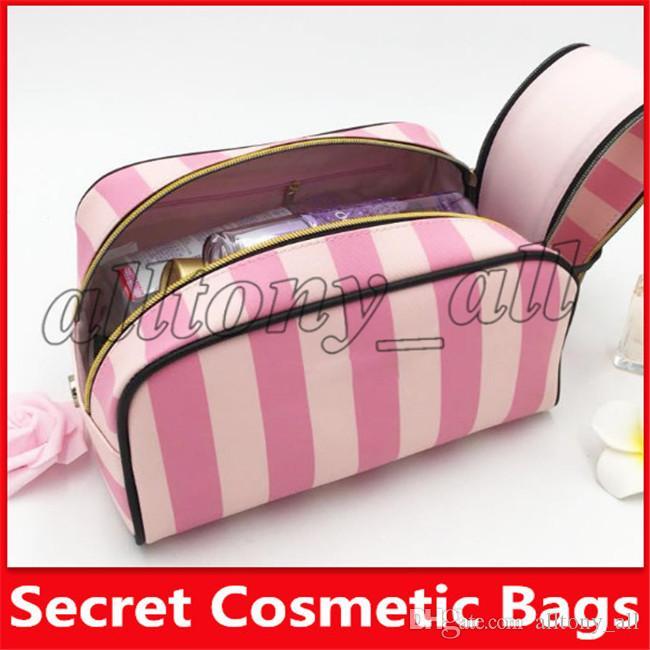 2019 Sacs célèbre marque Sercret cosmétiques Maquillage Sacs stripe Sacs de haute qualité avec la livraison gratuite