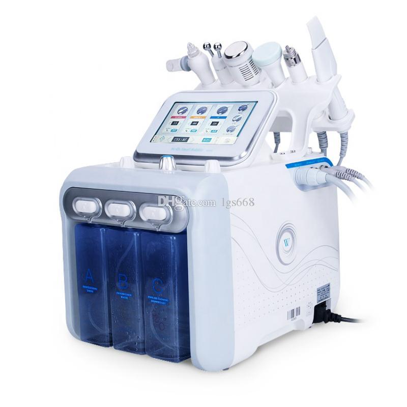 6 깊은 클렌징 엑스 폴리 에이 팅 피부 화이트닝을위한 물 산소 페이셜 머신 딥 클렌징
