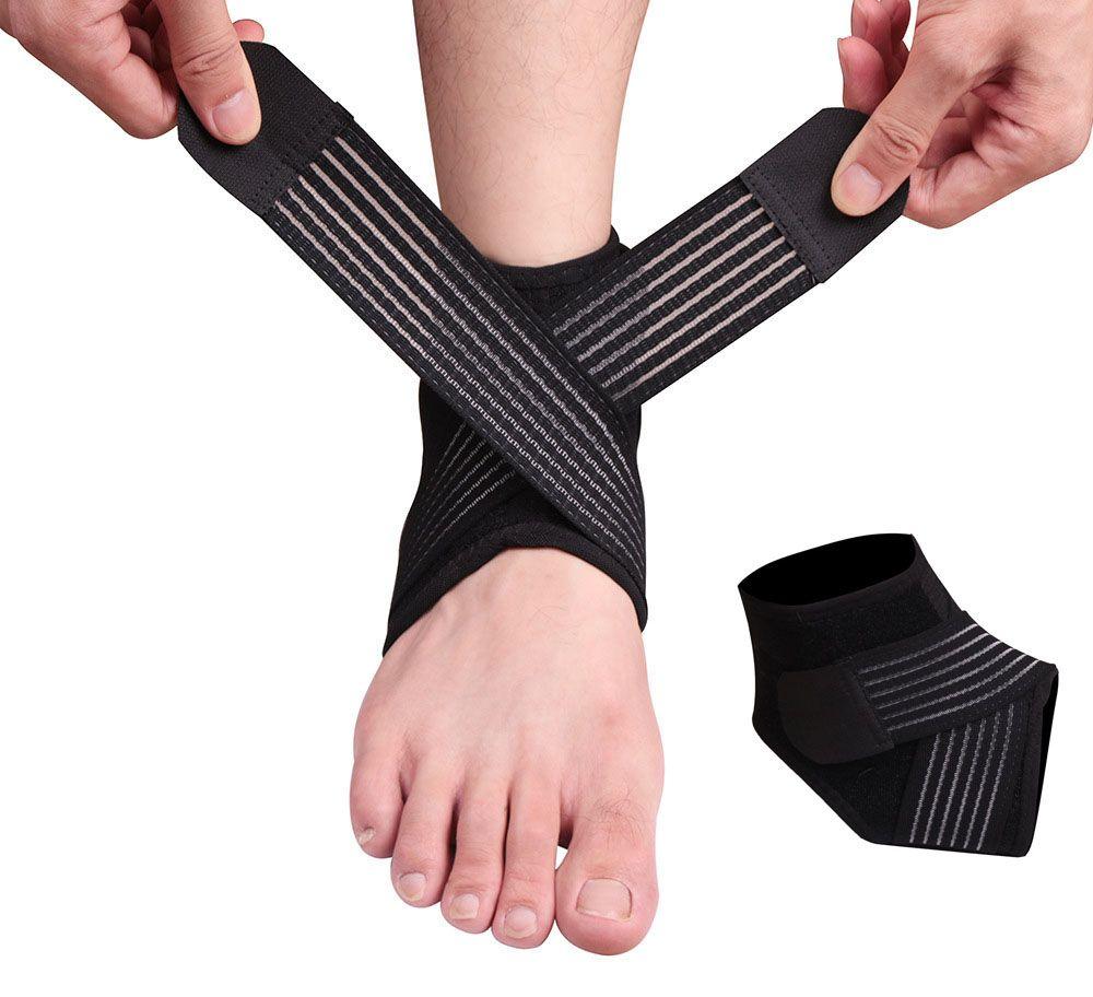 DHL libero di alta qualità cinturino alla caviglia supporto sportivo guardia di sicurezza protezione della caviglia basket, calcio, badminton palestra fitness donna uomo m426f
