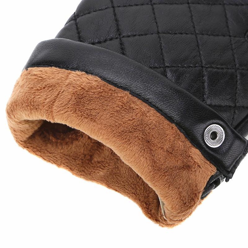 Mode-heng JI Gants en cuir brodé hommes, froid d'hiver - preuve chaude, toucher - écran des gants en peau de mouton, de haute qualité, transport gratuit