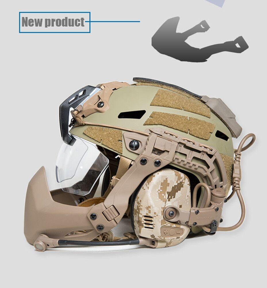Taktik Kask Aksesuar Açık Kask Airsoft Katlama Maske için FMA Yarım Mühür Maskesi