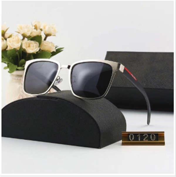 2020 نظارات الموضة الجديدة النظارات الشمسية في الهواء الطلق الفاخرة الرجال الكبير في النظارات UV400 العلامة التجارية P0120 6 ملونة بجودة عالية النظارات الشمسية