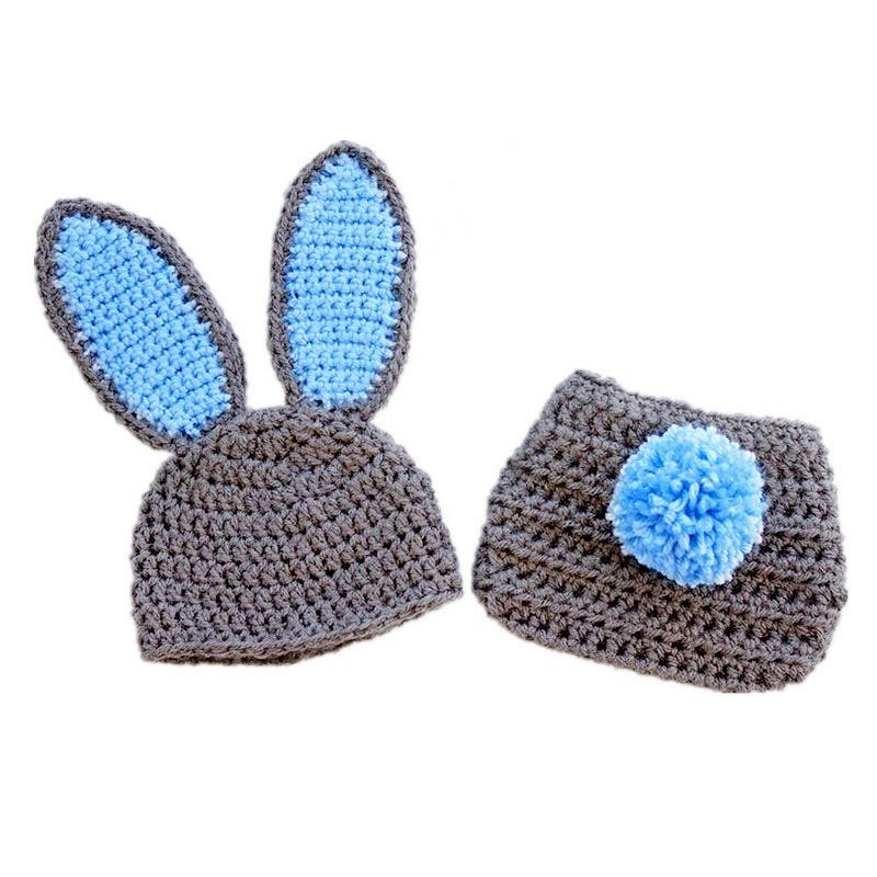 Bunny Rabbit Hat /& Cape Costume Set for Baby Easter Crochet Photo Props Outfits