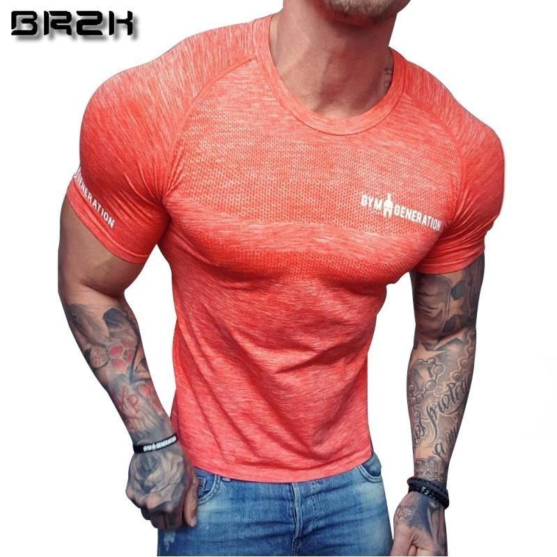 Camisetas de manga corta para hombre de compresión de secado rápido Camisa de running Fitness Tight Tennis Soccer Jersey Gym Demix Sportswear Y19072201