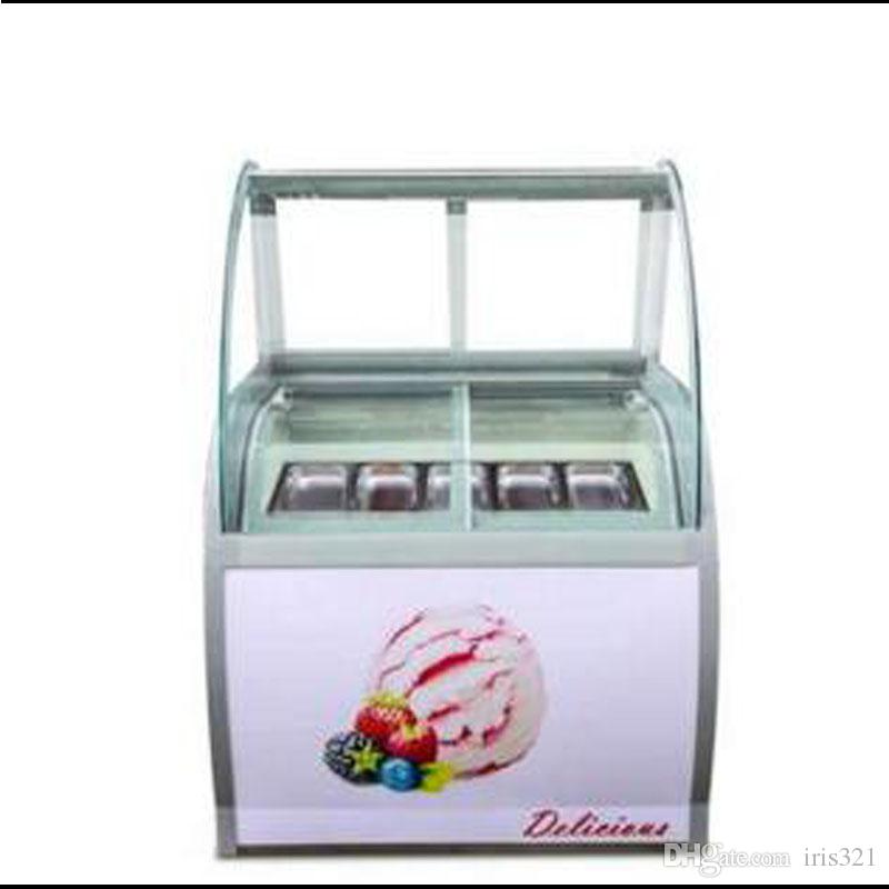 Commercial Stainless Steel 8 round barrels or 10 square barrels freezer Ice cream display cabinet Ice cream display freezers
