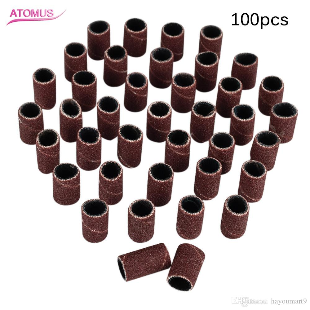 """100pcs Nail File Drill Bits Nail File Electric Machine Replacement Drill Sanding Bands Bits 180"""" Manicure Tool Pedicure Supply"""