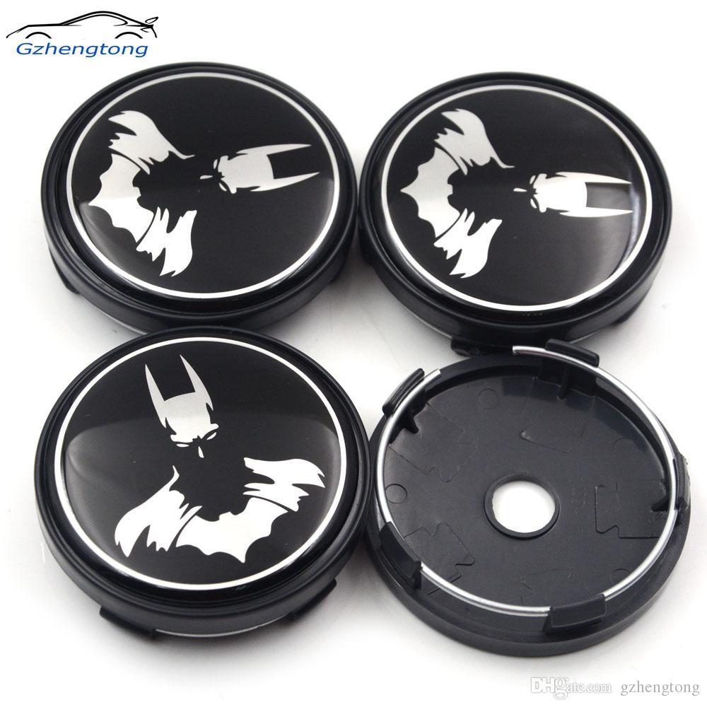 Gzhengtong 4pcs/lot 60mm Batman Logo Black Auto Wheel Center Badge for Fiat Car Wheel Centre Caps Alloy Emblem