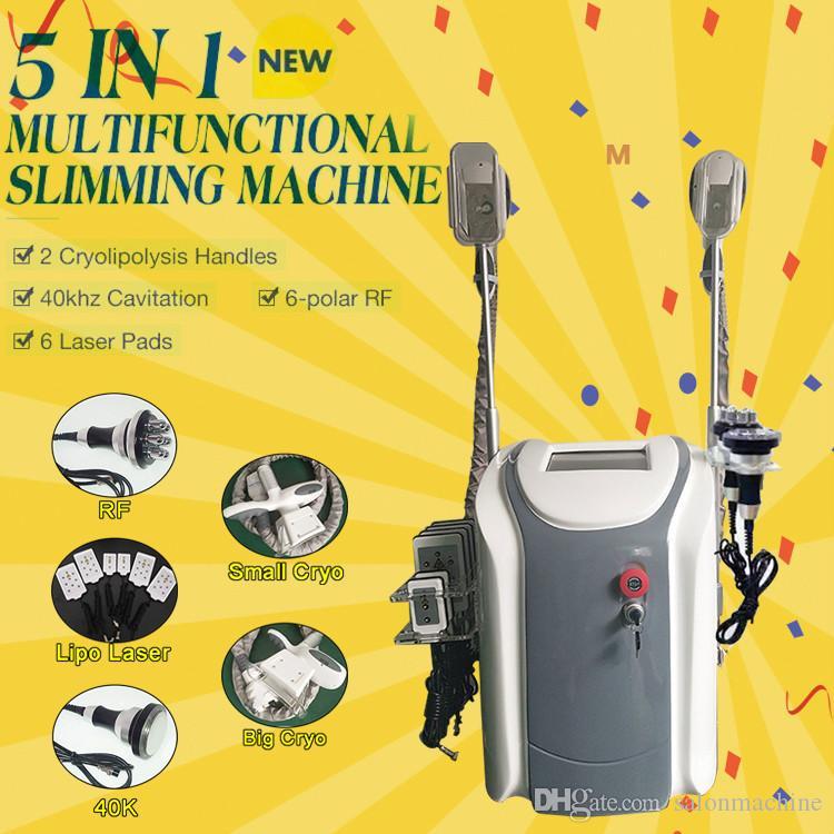 2019 Taşınabilir Zayıflama Makinesi Serin Şekillendirici Kriyoterapi Cryo Lipolysis Ultrason RF Liposuction Lipo Lazer Makinesi Yağ Donma Makinesi