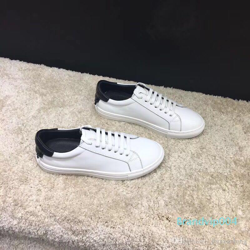 Boş Ayakkabı sürüş düz ayakkabı dans Yeni Bahar Stil 2019 Deri Tasarımcı Beyaz Ayakkabı sarılı erkek ve kadın spor ayakkabısı Jimnastik