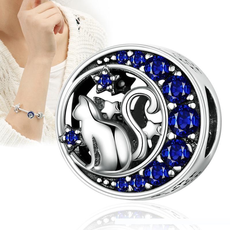 A lua Stars Charm Bracelet acessórios de decoração DIY para Bangle Jewelry Mulheres Lady BMF88