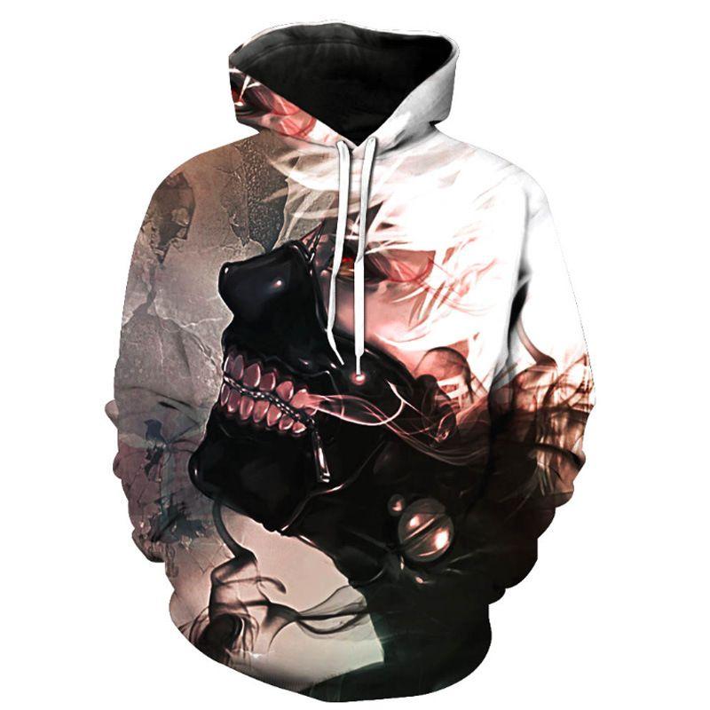 3D Print Mens Boys Tokyo Ghoul Japan Anime  Hoodie Sweater Sweatshirt Jacket Top