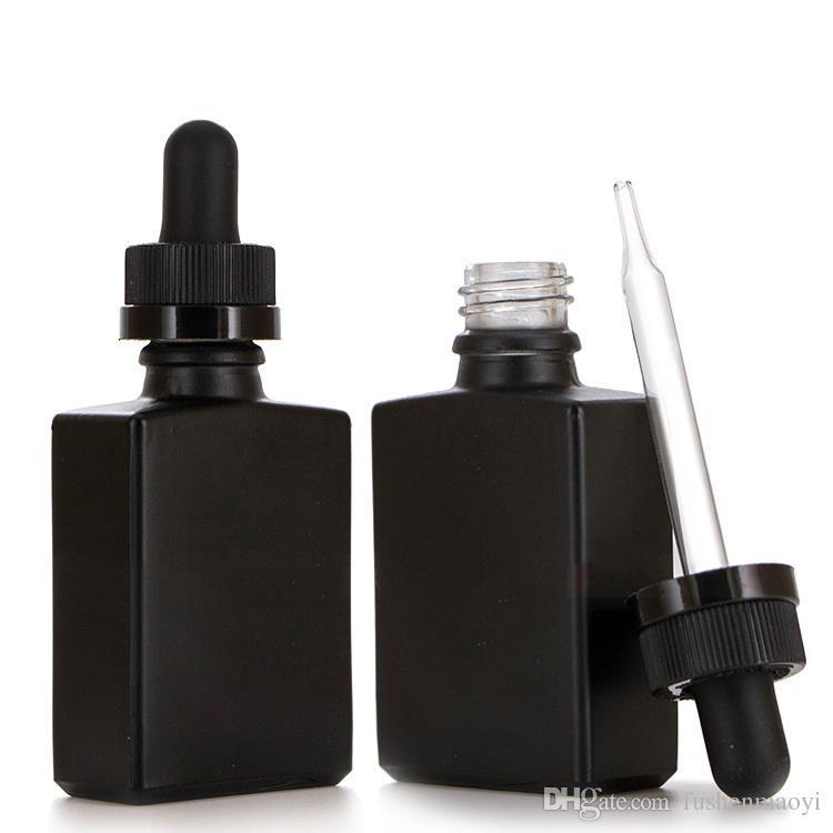 30 ملليلتر أسود متجمد الزجاج كاشف السائل ماصة قطارة زجاجات ساحة الضروري النفط عطر زجاجة الدخان النفط e زجاجات السائل