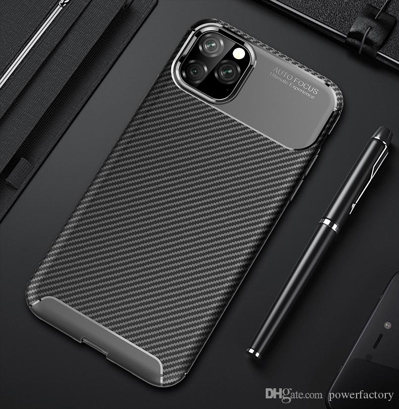 iPhone 11 Pro Max x xs xr maksimum 7 8 6 6s artı galaksi s10 S9 artı not 10 pro Huawei moto LG Xiaomi vaka için yumuşak Karbon Elyaf Kılıf