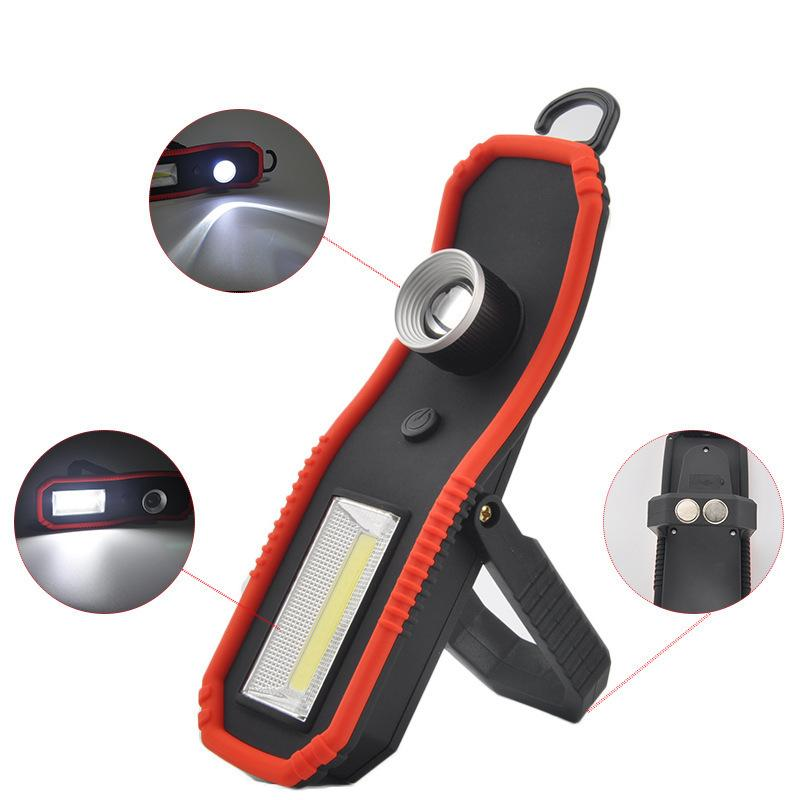 Factory Cob Work Lamp Charge Focusing Flashlight Magnet A Hook Camp Tent Lamp Camping Emergency Lamp