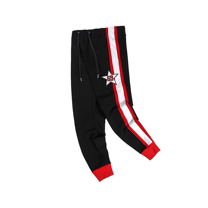 Femmes des nouveaux hommes Brandpants Designerpants mode taille élastique lâche Jogger longues Pantalon étoile Motif Cadrage Pantalon C1 2022805V