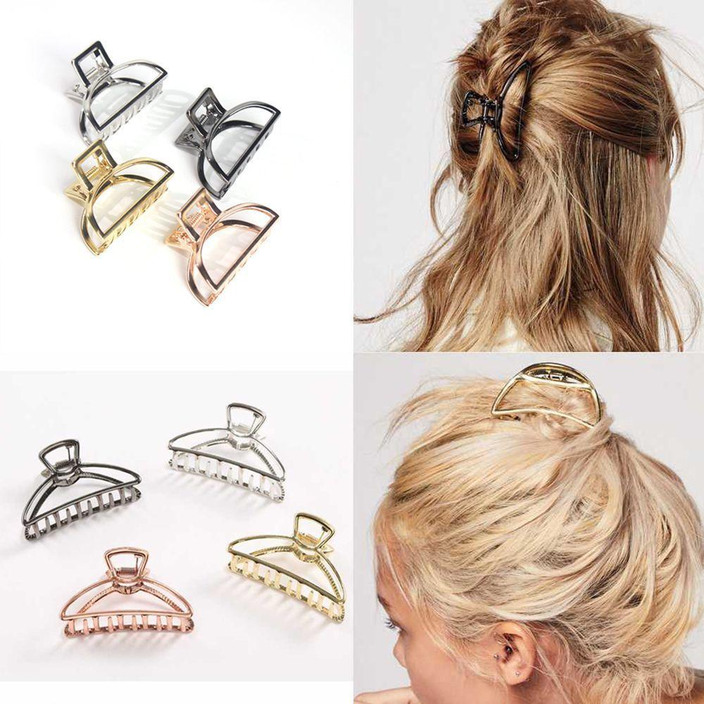 Women Fashion Hair Claw Solid Hairpins Ponytail Headband Hair Clips Accessory TO