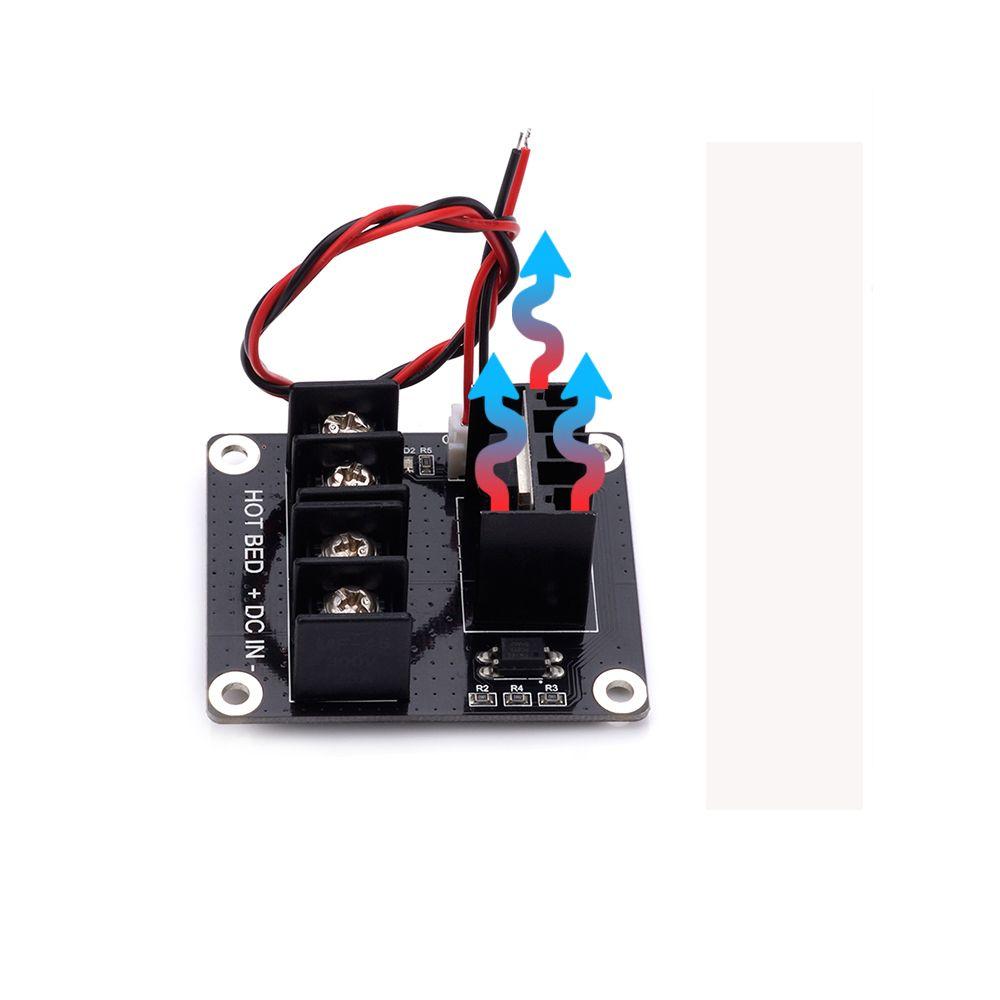 3D Drucker Beheiztes Bett Power Module / Hotbed-MOSFET-Erweiterungsmodul mit 2-poligem Kabel und Kabel für Anet A8 A6 A2 Rampen